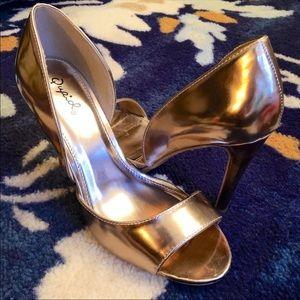 Bronze/Gold Heels